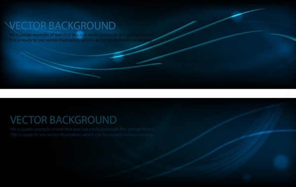 Free Midnight Blue Template Banner Layout