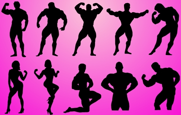 Free Body Builder Pack Silhouette