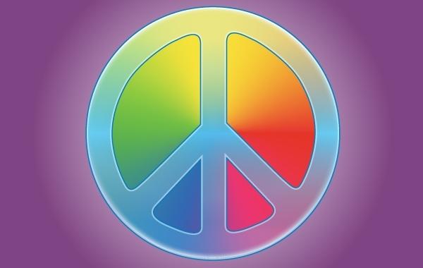 Free Rainbow Peace Symbol