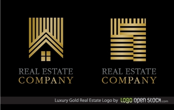 Free Luxury Gold Real Estate Logo