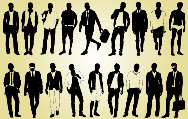 Free Male Model Pack Silhouette