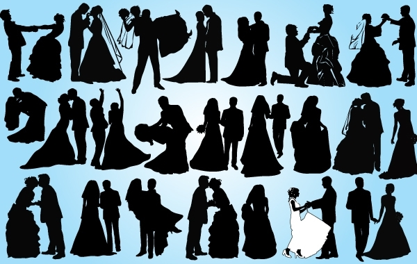 Free Married Couple Pack Silhouette
