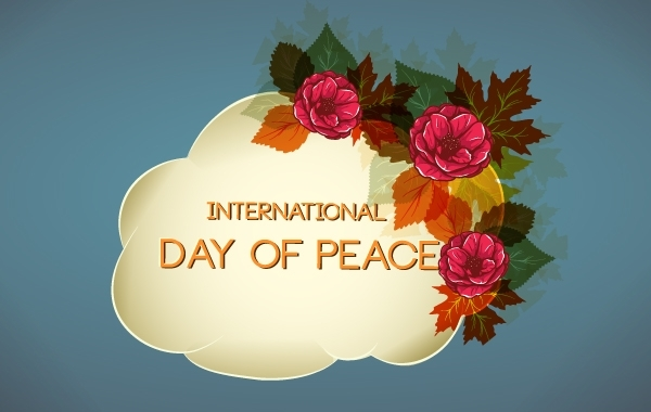 Free Flourish Design for Day of Peace