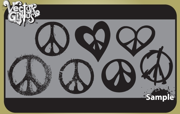 Free Vintage Peace Sign Pack