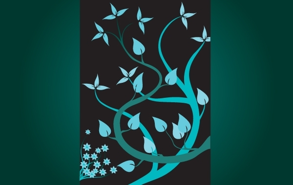 Free Turquoise Swirly Floral Plants