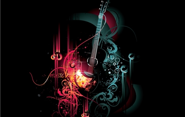 Free Abstract Musical Grungy Background