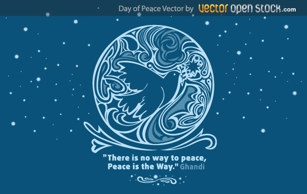 Free Day of peace vector