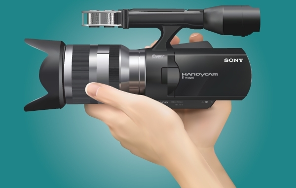 Free Realistic Sony Handycam with Hand