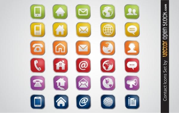 Free Contact Icons Set