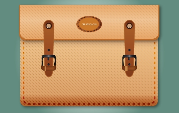 Free Icon Brown Briefcase