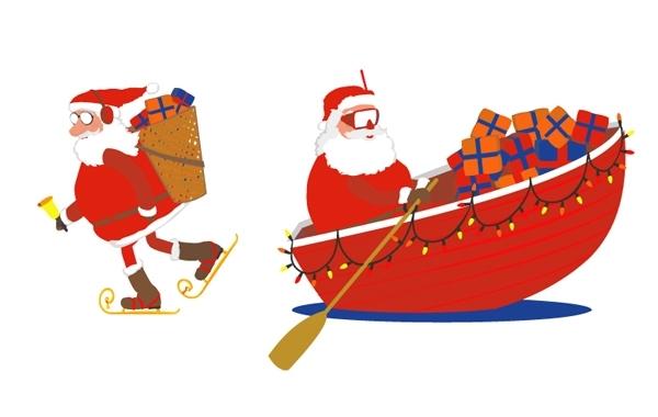 Free Santa skates and boat