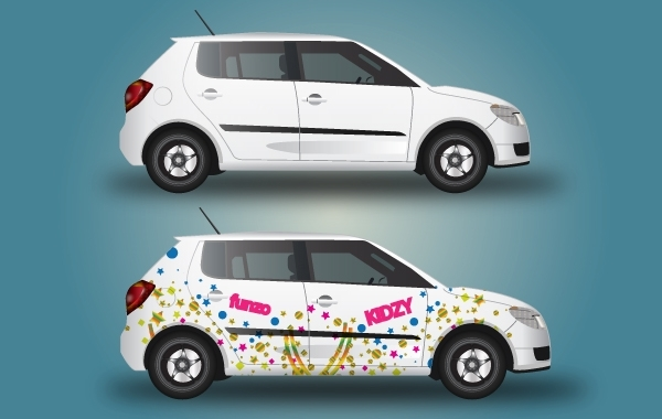 Free Car with Wrapping Design