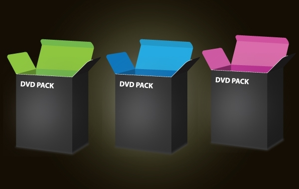 Free 3D DVD Box Template Pack