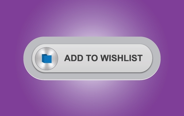 Free Gray Wish List Button
