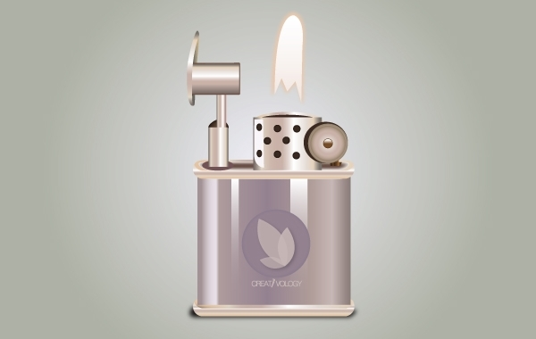 Free Icon Stylish Fired Lighter