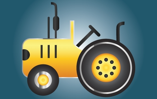 Free Icon Yellow Tractor