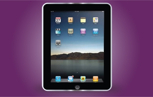 Free Apple Black iPad Frame