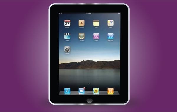 Free Apple Black iPad Frame