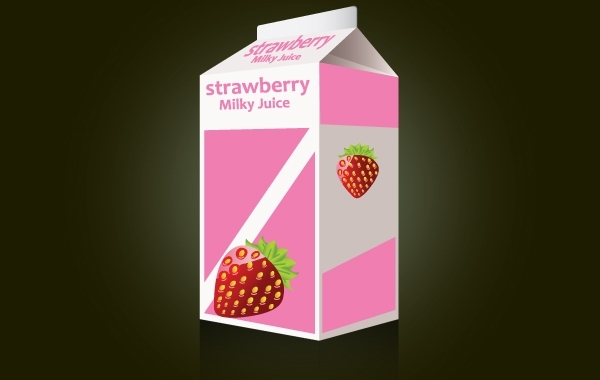 Free Strawberry Milk Packet Template