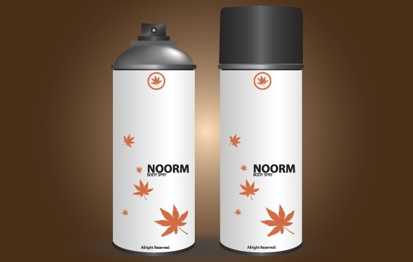 Free Noor Body Spray in White Can