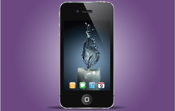 Free Iphone Black Realistic Style