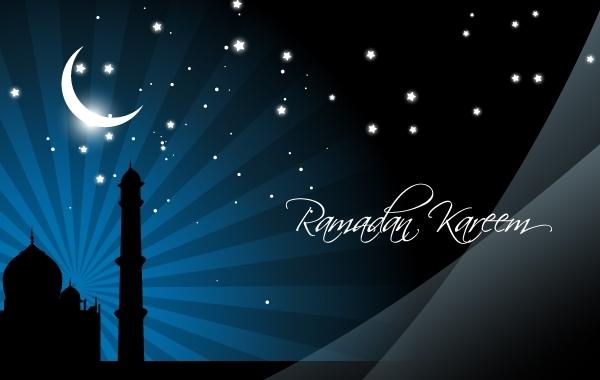 Free Mosque in Stunning Moonlight Night