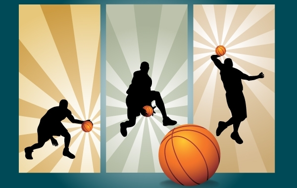 Free Basketball Playing Movement Silhouette