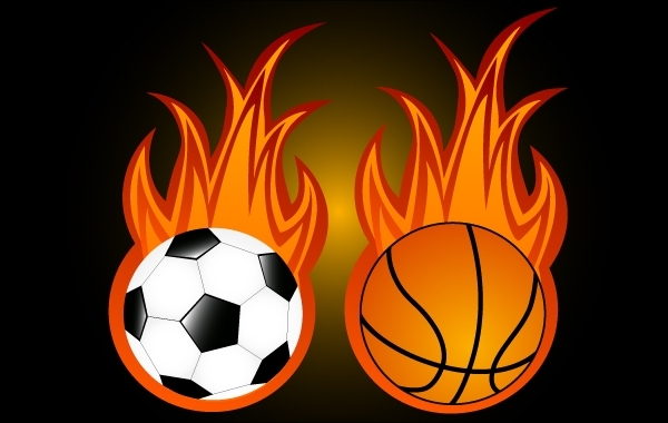 Free Two Sport Balls with Flame