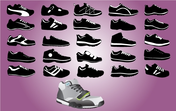 Free Sports Shoe Pack Black & White