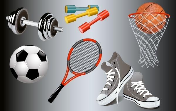 Free Vectors: Gym and Sport Equipments | GianFerdinand