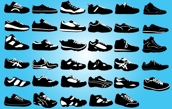 Free Black and White Sports Boot Pack