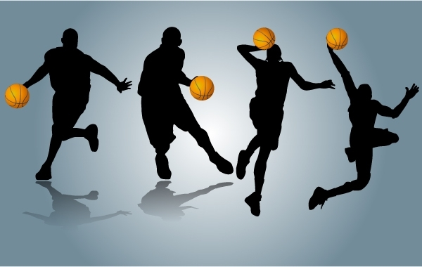 Free Vectors: Players Performing with Basketball | GianFerdinand
