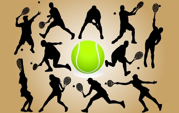 Free Vectors: Silhouette Tennis Player Pack | GianFerdinand