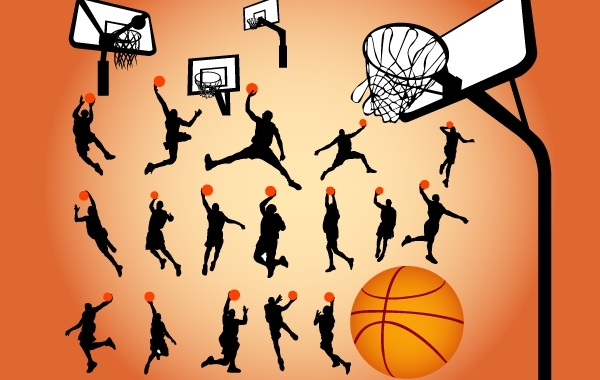 Free Silhouette Basketball Game