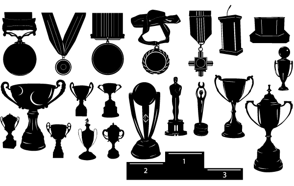 Free Silhouette Trophy Pack