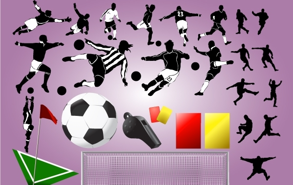 Free Vectors: Football Players with Stuff | GianFerdinand