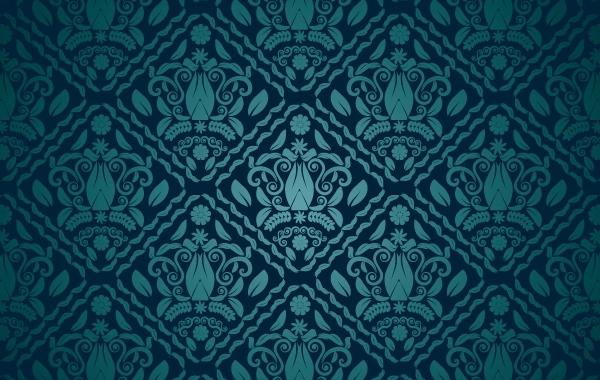Free Vectors: Dark Teal Seamless Pattern | LegumaReloaded