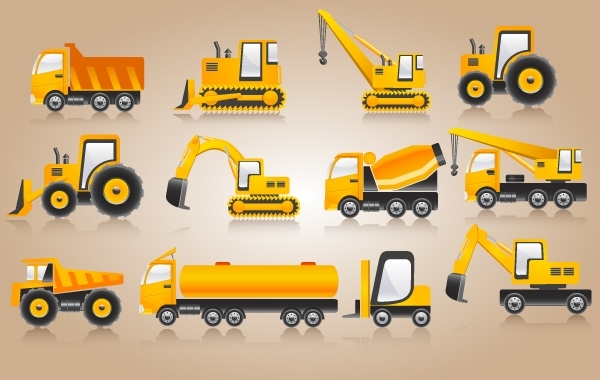 Free Heavy Construction Yellow Vehicle Pack