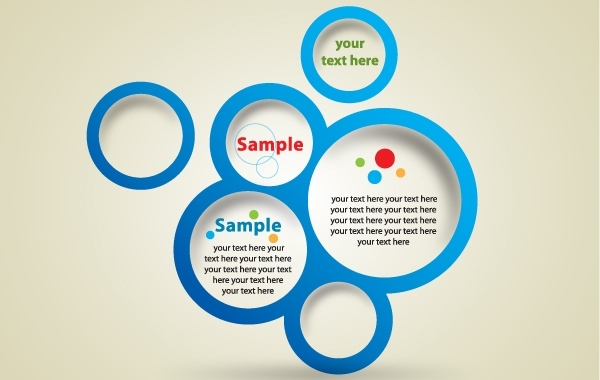 Free Template Blue Circle Banner