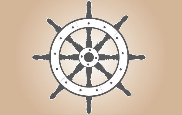 Free Gray Ship Wheel