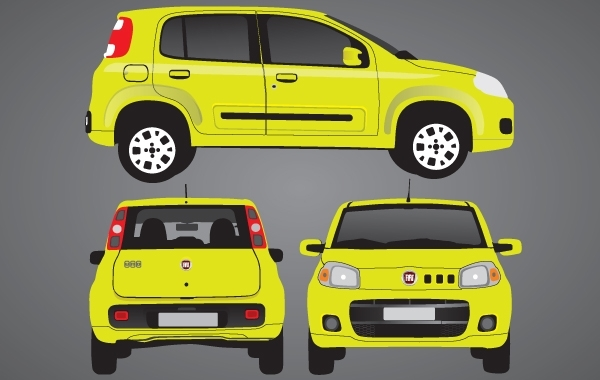 Free Yellow Novo Uno Car Set