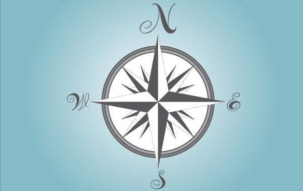 Free Gray Compass