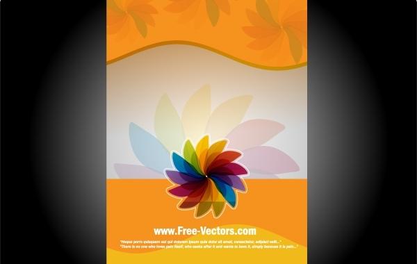 Free Orangey Flourish Banner Template