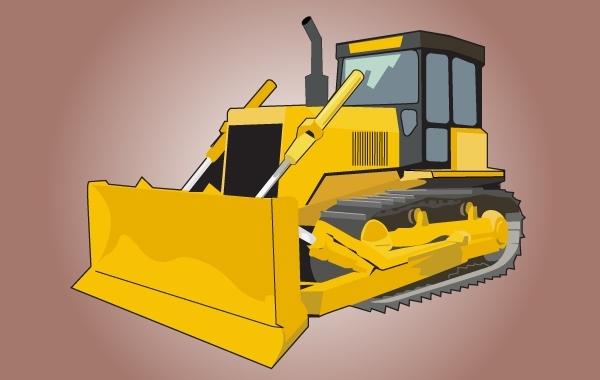 Free High Detail Yellow Bulldozer