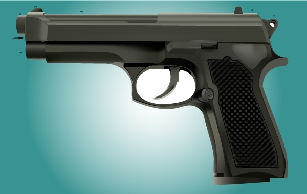 Free Photorealistic Revolver Vector