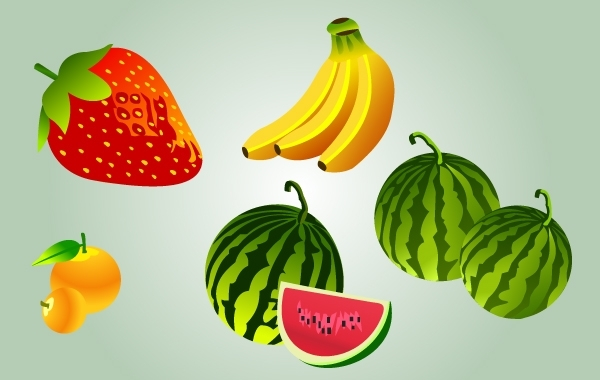 Free Cartoonish Fruit Pack Vector