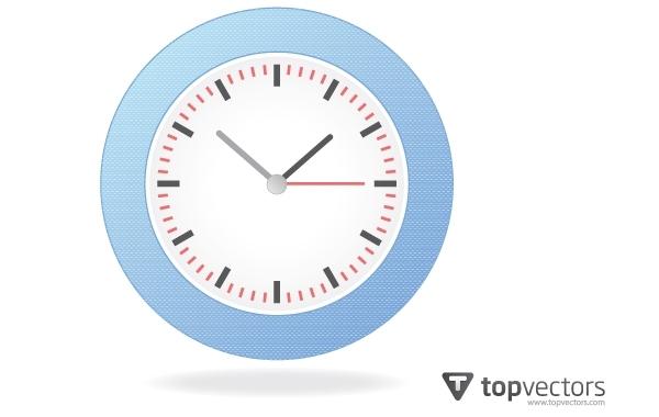 Free Realistic Simple Analog Wall Clock