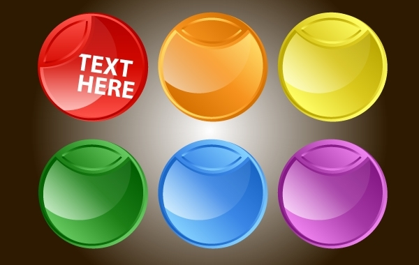 Free Fluorescent Rounded Button Pack
