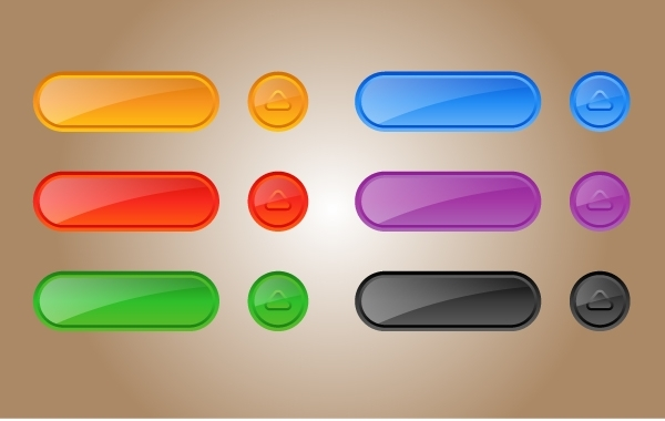 Free Glossy Template Button Pack