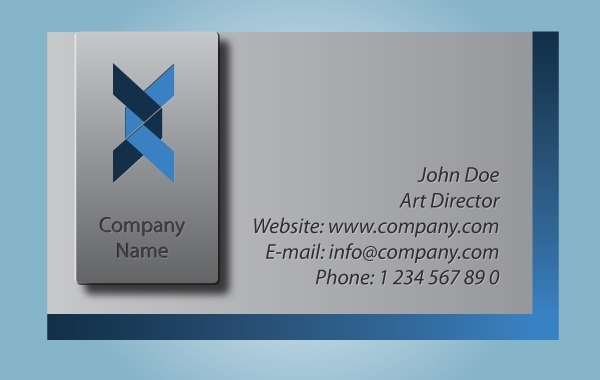 Free Gray Ribbon Business Card
